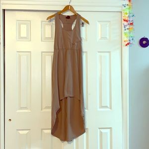 High-Low Tan Dress size small by Love